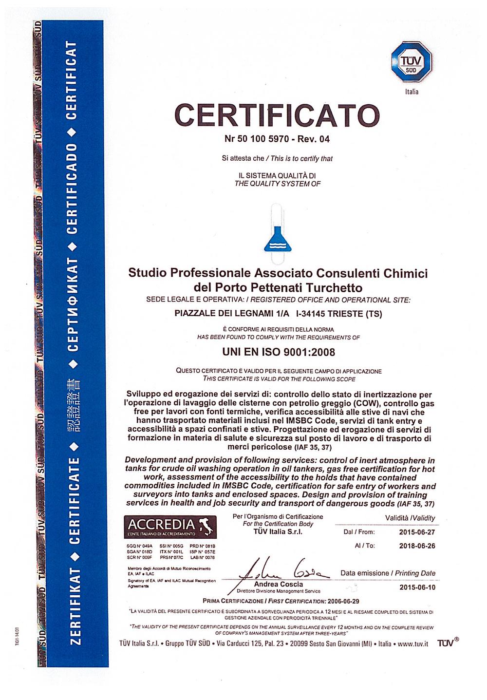 certificatotuv